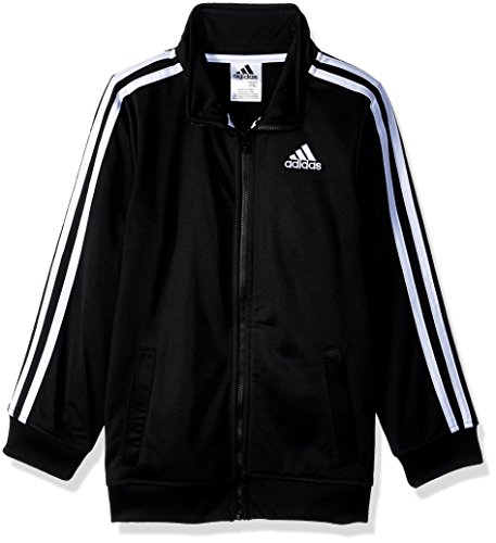 adidas Boys' Tricot Active Track Warm-Up Jacket, Black ADI, Large