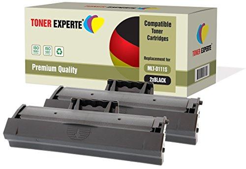 2-er Pack TONER EXPERTE® Premium Toner kompatibel zu MLT-D111S für Samsung Xpress SL-M2020, M2020W, M2021, M2021W, M2022, M2022W, M2026, M2026W, M2070, M2070W, M2070FW, M2070F, M2071, M2071W, M2078
