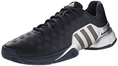 adidas Performance Men's Barricade 2015 Tennis Shoe, White/Core Black/Bright Red, 10 M US