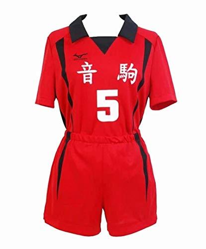 Haikyuu Nekoma Cosplay High School Uniform Unisex Kenma Kozume Kostüm Anime Cosplay Anzug Nekoma Volleyball Trikot Unisex T-Shirt Shorts