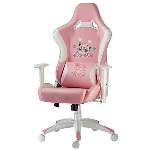 Gaming Chair Rosa Ergonomic Gaming Chair Nette Kawaii Art Bürostuhl...
