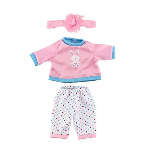 Baby Annabell Kleidung Puppe Kleid Kleidung Outfits Minifertigkeit Handgemachte Kostüme Pyjamas Puppe Matching Zubehör 17inch Rosa Kinder