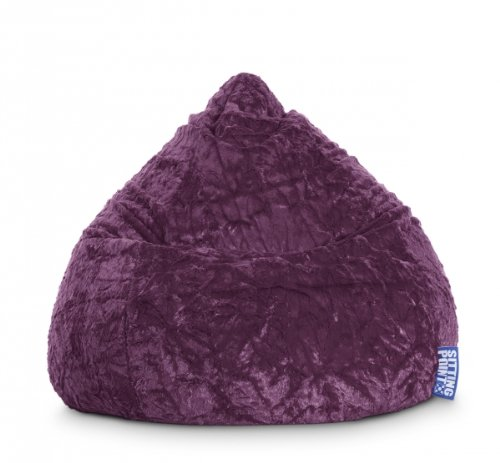 SITTING POINT only by MAGMA Sitzsack Fluffy XL ca. 220 Liter aubergine