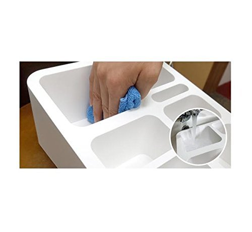 Cafedamda Multifunctional All in One Coffee Teabag Spoon Tray Organizer White