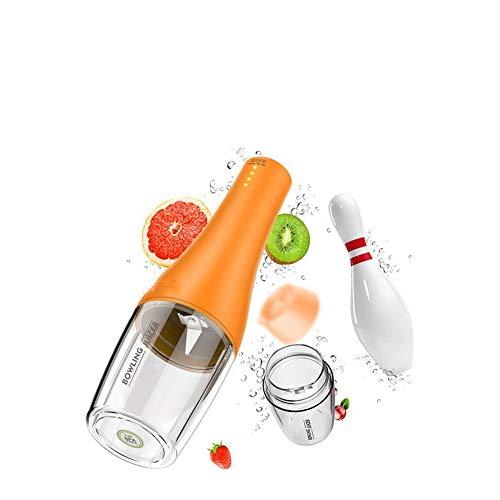 Tragbarer Mixer 350ML Mini Travel Juicer USB Wiederaufladbarer Haushalts-Obstmischer Abnehmbarer Smoothie-Mixer für Zuhause, Büro, Sport,Gelb