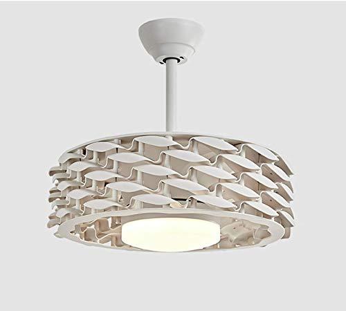 Ventilador de techo para candelabro con luz de lujo, control remoto de candelabro LED, 3 velocidades, acrílico de 3 colores, sin aspas, ventilador de candelabro, motor silencioso con kits de L