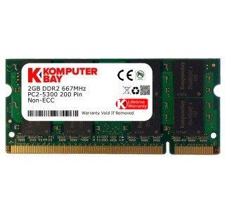 Komputerbay Arbeitsspeicher 2GB DDR2 667MHz PC2-5300 CL5 SO-DIMM (200-PIN, für Notebooks) Laptop- SODIMM Speicher