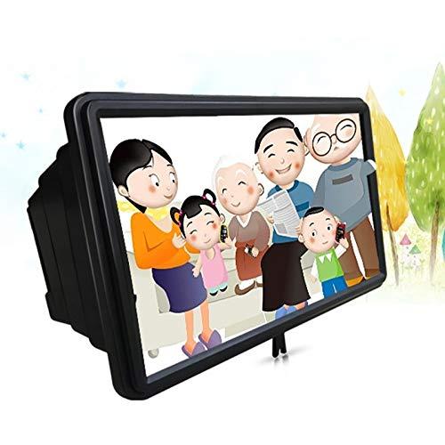 Banaz 12 Pouces 3D Universel de téléphone Mobile écran Téléphone Portable Loupe vidéo loupe télescopique Support Mobile, Support de téléphone Mobile (Color : Black)