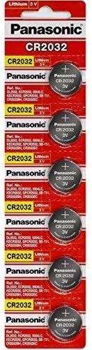 Panasonic CR2032 Battery Lithium cr-2032 3V Coin Cell pack of 6 batteries