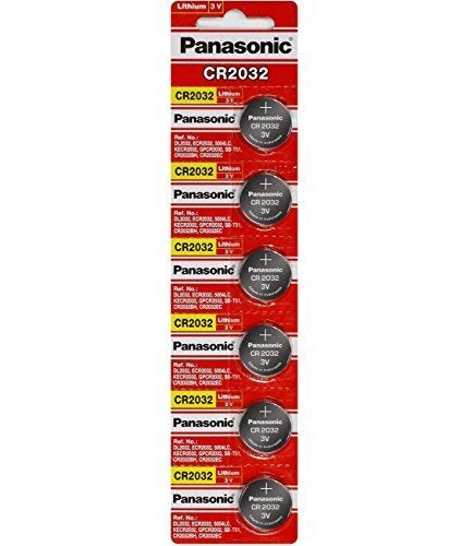 Panasonic CR2032 Battery Lithium cr-2032 3V Coin Cell pack of 6 batteries'panasonic brand name batteries' exp. date 2022