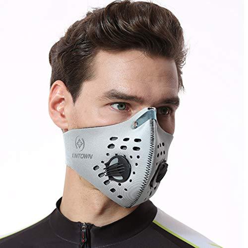 Beonzale Unisex Outdoor Half Face Cover Mundschutz Muffel Winddicht Wiederverwendbare Waschbar Bandana Schal zum Radfahren Radfahren