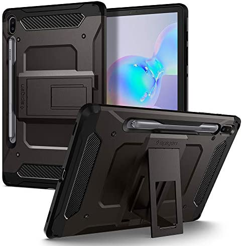 Spigen Tough Armor Pro Designed for Galaxy Tab S6 Case with S Pen Holder 2019 Gunmetal product image