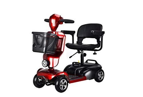 Mini Coche Eléctrico Plegable de Motocicleta, Coche Eléctrico Mini Pedal de Tres Ruedas para Adultos, Coche de Batería de Litio Portátil Plegable de Viaje, Bicicleta de Viaje de Motocicleta Al Aire