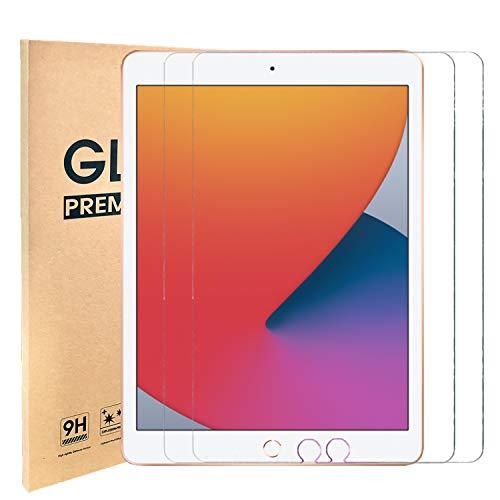 [2 Stück] Panzerglas iPad 8. Generation,Panzerglas Schutzfolie Kompatibel mit iPad 10.2 Zoll (iPad 7 2019,iPad 8 2020)