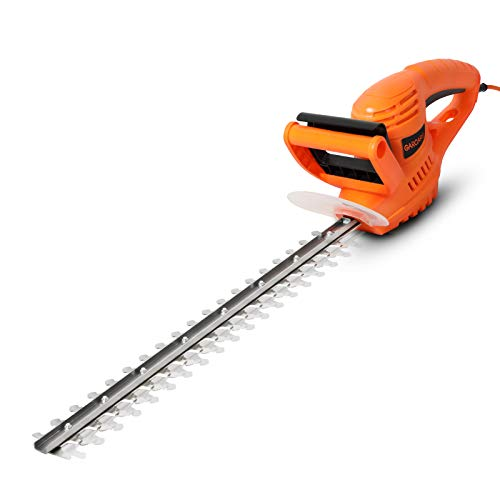 GARCARE Corded Electric Hedge Trimmer - 500W Electric Tree Trimmer | Hedge Shears | Branch Cutter with Blade Cover, 510mm Cut Blade, 16mm Cutting Capacity