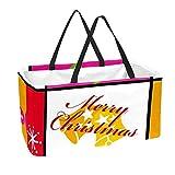 Bolsa de supermercado reutilizable Contenedores de almacenamiento grandes de 50L Cesta de compras Bolsas de asas Decoración navideña