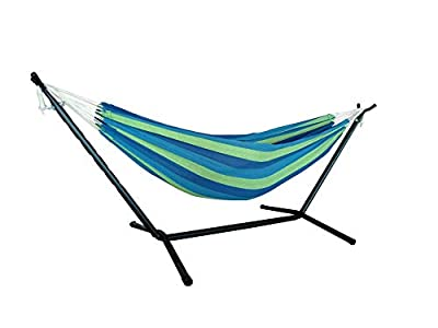 wireless future charger Hammock with Stand, Heavy Duty Portable Combo for Indoor Bedroom Outdoor Backyard Double Hammock Stand 2 Person Frame, Storage Bag Included