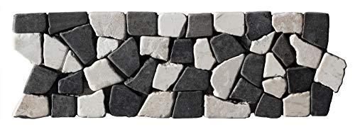 BO-337 Marmor Mosaikfliesen Bordüre Bruchstein - Fliesen Lager Verkauf Stein-mosaik Herne NRW Naturstein Bad