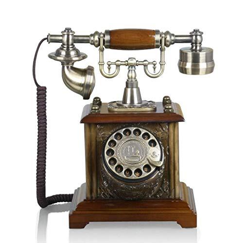 MUJIN Retro telefoon keuzeherhaling brons metaal mode creatieve platenspeler handsfree Europese stijl pastorale Home Office 19 cm * 29 cm * 25 cm MUJIN
