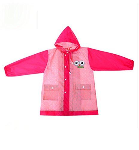 coréen étoiles Lovely bébé imperméable Mode enfants pluie Rose vif Dot S
