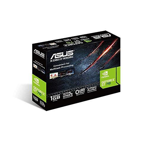 ASUS NVIDIA GeForce GT 710 Silent Grafikkarte (1GB DDR5 Speicher, 0dB Kühlung, DVI, VGA, HDMI)