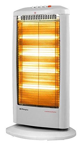 Orbegozo BP 0404 A – Estufa eléctrica halógena, movimiento oscilante, 1800 W de potencia, 4 niveles de funcionamiento