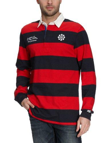 Nike Herren Rugbyshirt 1823 Fullback, Sport red/Dark Obsidian/sail/White, S, 426687-611