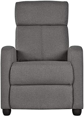 Best Topeakmart Fabric Recliner Sofa Push Back Recliner Chair Adjustable Modern Single Reclining Chair Up