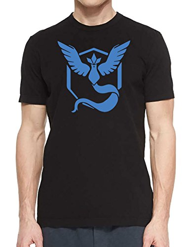 Team Mystic T-Shirt Pokemon Go Erwachsene & Kinder Pikachu Eevee Gaming Top Gr. One size, Schwarz