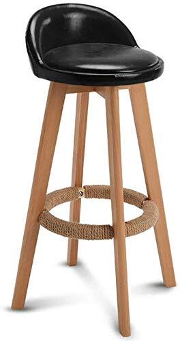 Suge Silla Cable de cáñamo Escabel Poliuretano cojín del Asiento Giratorio taburetes de Bar sillas de Respaldo de Cocina  Pub  Coste y flete;Taburete de la Barra 4 Patas de Madera MAX.Carga 150 kg