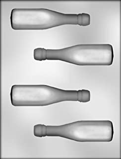 CK Products 4-5/8-Inch 3-D Champagne Bottle Chocolate Mold