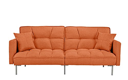Divano Roma Furniture EXP54 Furniture Modern Adjustable, Small, Orange