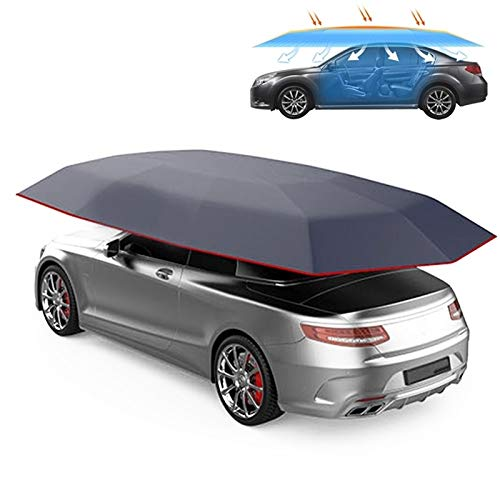 Semiautomático Carpa Toldo Car Smart aislamiento de la cubierta impermeable al aire libre doblado portátil refugio con techo de cubierta, Tamaño: 4,2 x 2,1 m Alta calidad (Color : Navy Blue)
