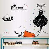 Runinstickers Pegatinas De Pared Productos Ropa Zapatos Sombreros Salón Dormitorio Decoración Pegatinas De Pared En La Pared Gafas Perchero Vinilo Cartel De Arte