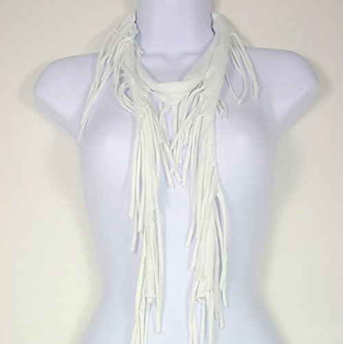 White Fringe Scarves Cotton 5 popular Scarf Retro Hippie Fr Factory outlet