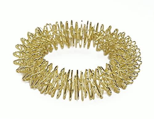 chi-enterprise Premium Massagering für's Handgelenk Anti Stress - Akupressur Ring - Antistress Armband | Akupressur Armband - Anxiety Ring | Stress Ring, Farbe Gold