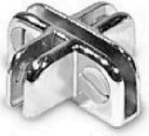 Store Fixture Supplies Same day shipping 12 Pack Department store Adjustable 4 Way Chrome Connector