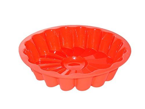 Guardini Juliette, Moule à fleur 22 cm, silicone alimentaire, couleur rouge