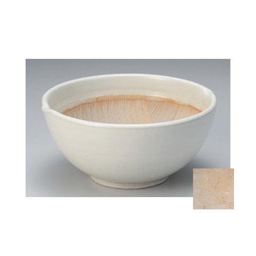 すり鉢 白釉波紋丸型すり鉢6.5号 [20.5 x 19.3 x 9.5cm] 料亭 カフェ 和食器 飲食店 業務用