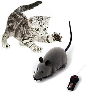 Jouet en forme de rat de la marque Scoolr à télécommande électronique sans fil, jouet en forme de souris pour animal de compagnie, jouet pour chats, chiens, animaux enfants, cadeau fantaisie