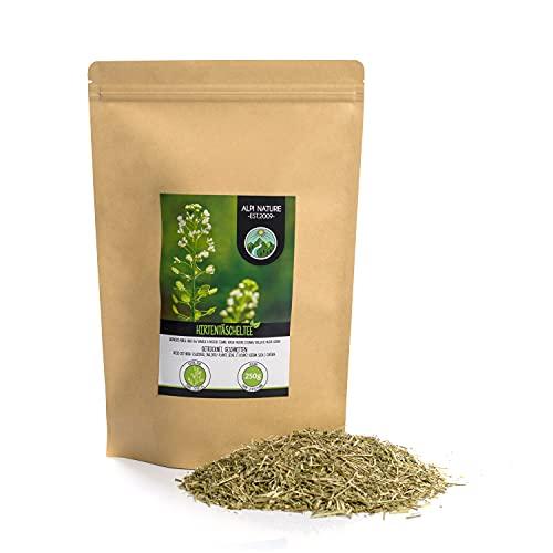 Hirtentäscheltee (250g), Hirtentäschelkraut, geschnitten, schonend getrocknet, 100% rein und naturbelassen zur Zubereitung von Tee, Hirtentäschel Tee, Kräutertee