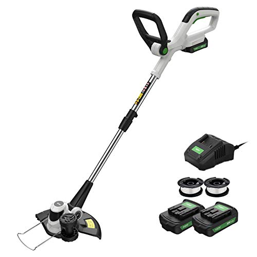 AIPER 20V Max Cordless String Trimmer/Edger with Easy Feed, Detachable Weed Wacker...