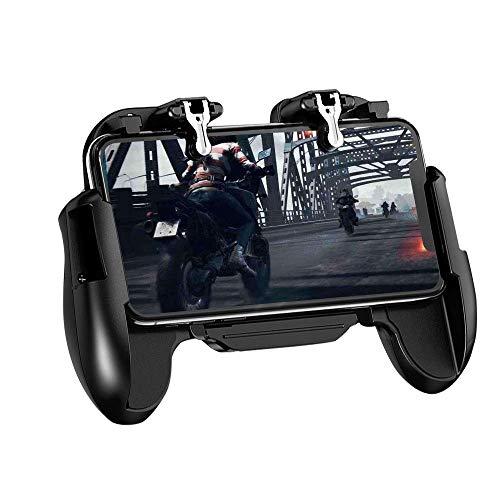 QCHEA Controlador de Juego móvil, Controlador de Disparador Sensible al teléfono móvil y Objetivo Joysticks Gamepad con Disparador L1R1 for 4.7 '' - 6.5 ''