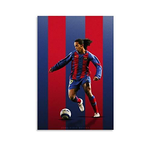 CHAOZHE Poster, Motiv: Sportler, Fußballspieler, Ronaldinho, dekoratives Gemälde, Leinwand, Wandkunst, Wohnzimmer, Poster, Schlafzimmer, Gemälde, 50 x 75 cm