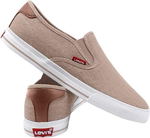 Levi's Mens Seaside CT Slip ON Sneaker,Navy,9