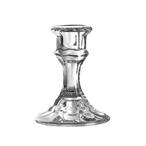 "Price comparison product image Libbey 4"" Candlestick Holder,  Clear"