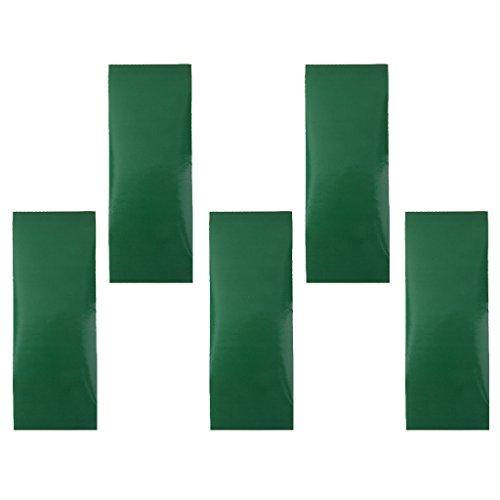 5x Parche de Reparación Adhesiva Presión Impermeable para Senderismo Acampada Verde