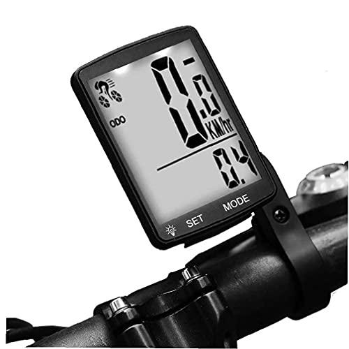 VusiElag Computer Bici Computer Wireless Tachimetro per Biciclette Multi Funzioni Impermeabile Ciclismo Contachilometrio Nero per La Bici da Strada MTB