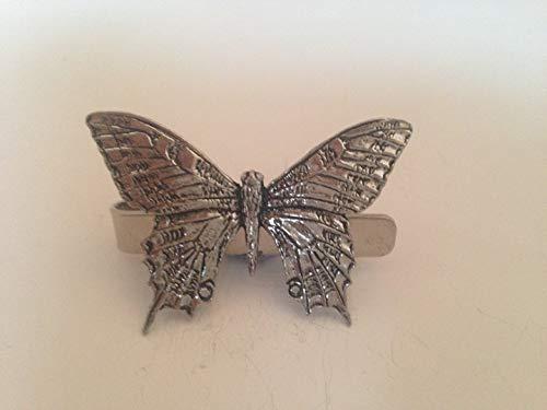 C6 papilionidae English Pewter emblème sur une pince à cravate 4 cm fait à la main à Sheffield Livré avec prideindetails Boîte Cadeau