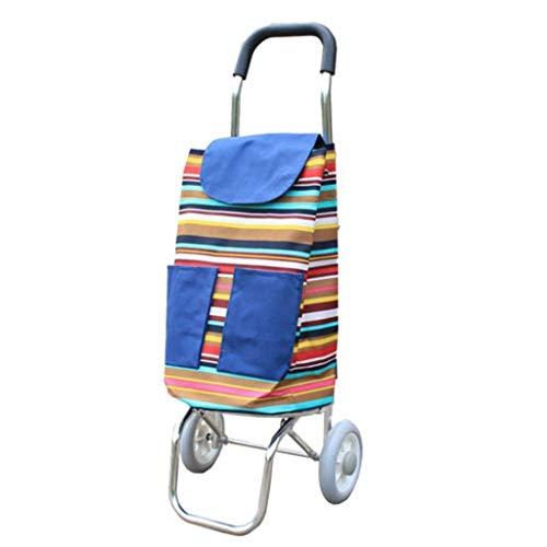 JALAL Caddie Pliable Ultra-léger à 2 Roues, Chariot à Bagages en Tissu Oxford Mobility Mobility Market Capacité 35L
